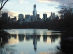 City Skyline from Central Park Duck Pond ..